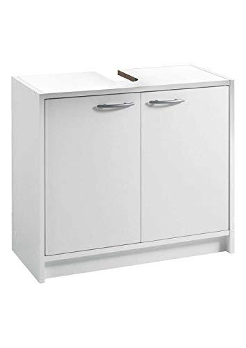 Waschbeckenunterschrank Waschtischunterschrank Badezimmerschrank | Weiß matt | 2 Türen | BxHxT: 63x55x29 cm