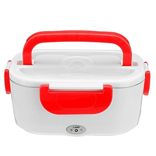 QFWM Caja de almuerzo calentador de alimentos contenedor de viaje de calentamiento rápido caja de almacenamiento para fácil transporte (tamaño: 170 x 108 x 238 mm; color: rojo)