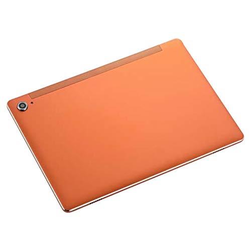 Nrpfell Tableta de 10,6 Pulgadas, MáQuina de Aprendizaje de Juegos Inteligente HD 4G Full Netcom Android (Naranja, 3 + 32G, Enchufe de la UE)