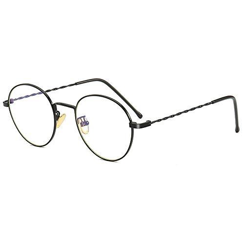 Ronde Frame Blauw Licht Blokkerende Bril, Polycarbonaat Transparante Lens Metalen Frame voor Anti Oogstrein, Anti Reflecterend, Anti Glas, UV400 Bescherming, Lezen Bril