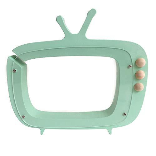 DUOER home Hucha Huchas Nórdico TV de Madera Cajas de Dinero Hucha Transparente Huchas Decoración y Almacenamiento para niños (Color : Light Green)