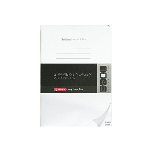 Herlitz 11416062 Refill my.book flex, blanko, A4, 40 Blatt (2er Pack)