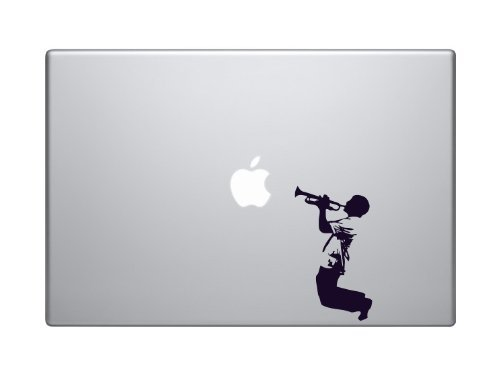 Passion Trumpet Player Silhouette Macbook Symbol Keypad Iphone Apple Ipad Decal Skin Sticker Laptop, Decal Sticker Vinyl Car Home Truck Window Laptop