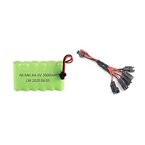 Batería AA de 6V 3000mah con juego de cargador para juguetes RC...