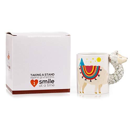 Color-Changing Llama Mug - 3D Ceramic Novelty Coffee Mug - Desk Llama Decoration - Great Collectible for Llama Lovers