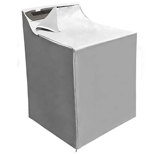 Covolo Washing machine Cover Suit for outdoor top-load and front load machine,Waterproof Dustproof Windproof Moderately Sunscreen Silver Coated (W29D28H40in)