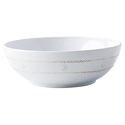Juliska Berry & Thread Melamine (heavy plastic) Whitewash Coupe Individual Pasta bowl