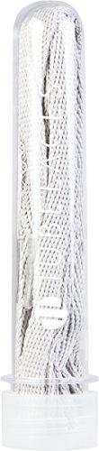 TubeLaces White Flat, Cordones de zapatos, Blanco (White), 111-120 cm, Pack de 5