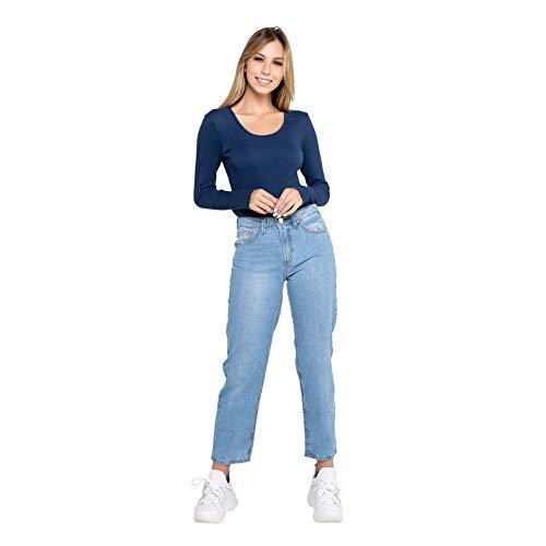 Calça Feminina Mom - Jeans - 40