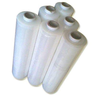 Realpack® 1x Transparente Qualitätswickelfolie für Paletten, starke Schrumpffolie, kurzer Rollenkern, Größe–400mm x 300m, ideal zum Umwickeln