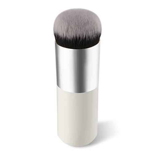 Lumanuby Doré Brosse Cosmétique Visage Brosse de Maquillage Poudre Brosse Blush brosses BB Brosse Outil de Fond de Teint, Blanc, 10.5 * 3 * 3 cm