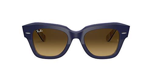 Ray-Ban 0RB2186 Gafas, Blue ON Stripes Orange/Blue, 49 Unisex