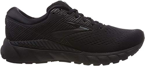 Brooks Mens Adrenaline GTS 19 Running Shoe - Black/Ebony - D - 11.0