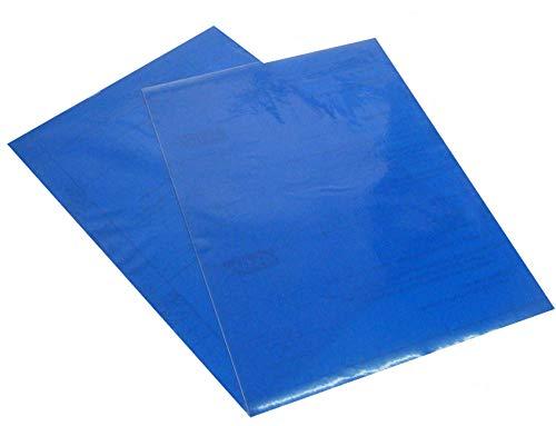 Transparentes A4-Kontakt papier Dc Fix Vinyl mit klebriger Rückseite - Blau