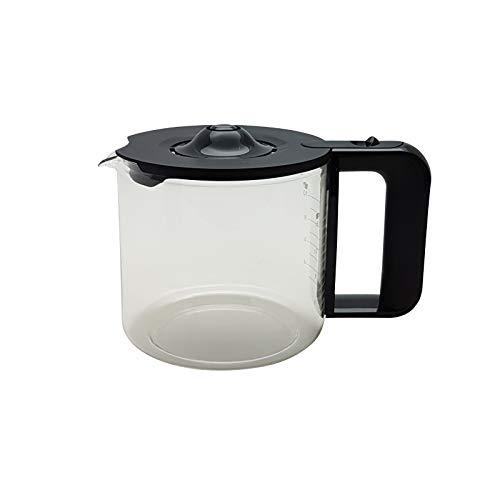 Lichtblau Jarra de cristal de repuesto para cafetera Bosch Siemens TKA8 / TC8, color negro