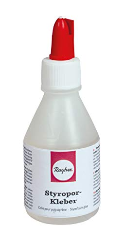 Rayher Hobby 30217000 Styropor-Kleber, Sortiert, Spachtel-/Linerver. 90g, Flasche 100ml