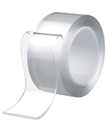 テープ 両面テープ 超強力魔法テープ 多機能テープ のり残らず はがせるテープ 透明 防水 洗濯可能 で繰り返し利用可能 滑り止めテープ 耐熱 家庭 オフィス 寮 (3M×5CM×2MM)