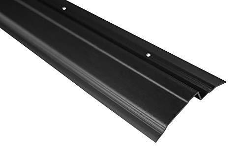 30 Meter | Abdeckprofil für Noppenfolie | PVC | stoßfest | resistent | Lemal | 65x10 mm | schwarz | PT6