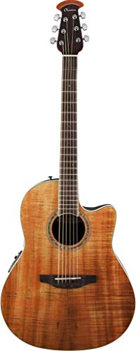 Ovation 6 String Acoustic-Electric Guitar, Right Handed, Figured Koa (CS24P-FKOA)