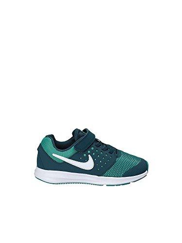 Nike Mädchen Downshifter 7 (PSV) Laufschuhe, Mehrfarbig (Space Blue/White/Turbo Green 401), 29.5 EU