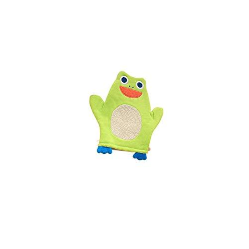 Deanyi Guante de baño de bebé suave felpa toalla de baño guante de lavado para bebé niño pequeño animal forma de dibujos animados rana