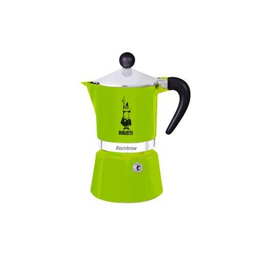 Bialetti Rainbow Espressokocher, Aluminium, Grün, 3 Tassen