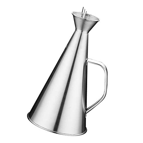 Dispensador de aceite de acero inoxidable de 500 ml a prueba de fugas para salsa de aceite, vertedor, vinagre, suministros de cocina, aceitera (color: imagen 1)