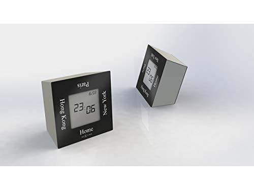 NeXtime Wecker, Metall und Kunststoff, Schwarz, 7.4 x 7.4 x 4 cm