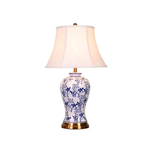 SPNEC Hogar Moderno Art Deco lámpara de Mesa, de Lino Pantalla Lámpara de cerámica del Cuerpo, Conveniente for la Sala de Estar, Dormitorio, vestíbulo, Estudio