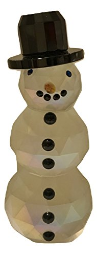 Simon Design Frosted Crystal Snowman Paperweight Figurine - 4.5""