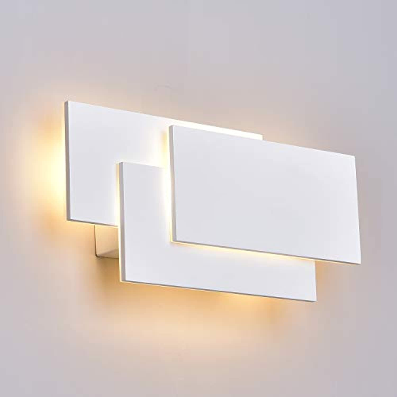 ZUZITO LED Wandleuchte Innen Modern Wandlampe 12W wei Innen Wohnzimmer Schlafzimmer Wand Dekor Wandhalterung Beleuchtung Lampe