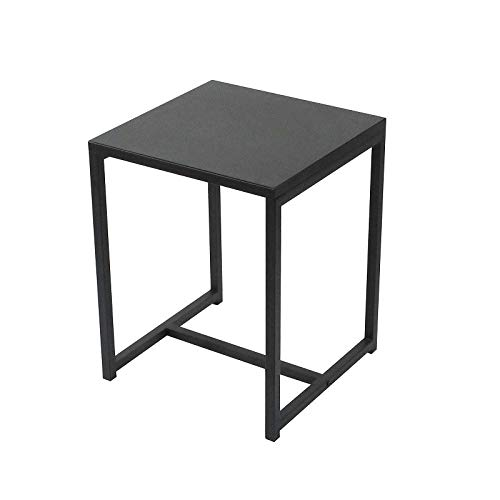 Urban Living Bijzettafel, Koffietafel, Side table, Vierkant, Industrieel design, Metalen blad, Metalen frame, 40 x 40 x 50 cm