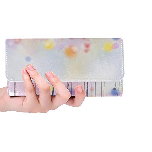 Einzigartige benutzerdefinierte abstrakte Blumenbilder Blumen weiche Frauen Trifold Brieftasche Lange Geldbörse Kreditkarteninhaber Fall Handtasche