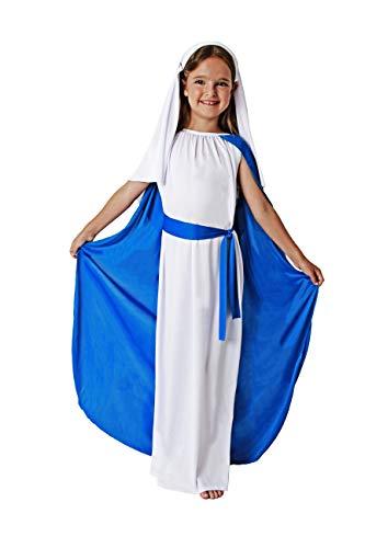 Costumizate! Disfraz de Virgen Maria Talla 3-4 Especial para Navidad