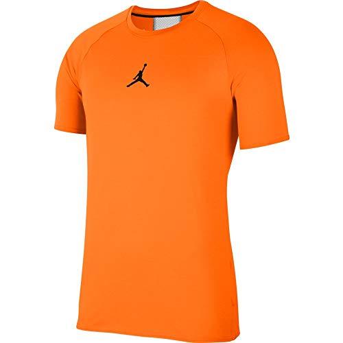 Nike Jordan Jumpman Air Trainings - Camiseta de manga corta, color naranja y negro naranja, negro S