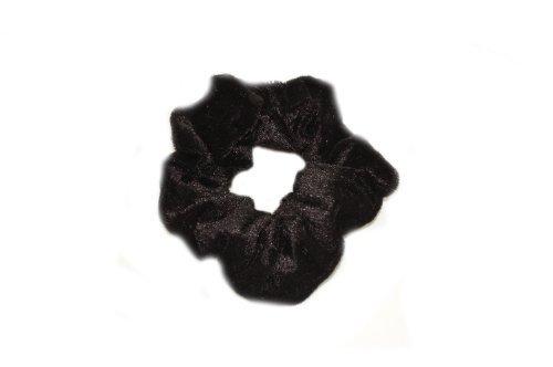 Ladies / Girls Velvet Scrunchy (Black) by Top Brand