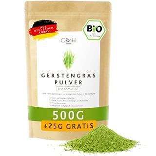 Gerstengras Pulver Bio 500g + 25g gratis I Deutsche Bioqualität aus Bayern Gerstengraspulver vegan laborgeprüft biologischer Anbau