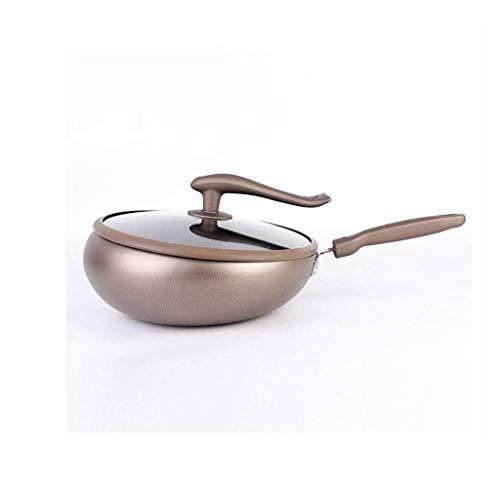 sartén de cocina wok, Pan-Wok Frey Wok, Pan 31 cm, sin aceite, sartén a prueba de salpicaduras, adecuado para estufa de gas, cocina de inducción, diseño moderno de novedades