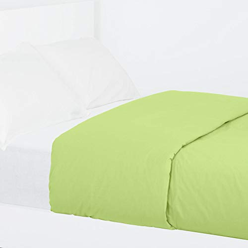 LA MALLORQUINA Funda Nórdica Algodón - Basic Verde - Verde, Cama 135 cm - 220x270 cm
