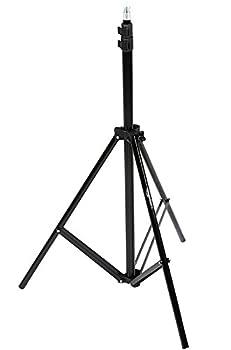 7フィート(2m)の照明スタンド、高さ調節可能(2.8-6.7フィート、85cm-204cm);フォトスタジオやロケ地での写真撮影に最適 1/4インチ(1cm)ネジ式; 標準的な照明、ストロボフラッシュ照明、背景などを固定できます 強力かつ軽量のアルミニウム製、おしゃれなブラック仕上げ 最大荷重は各3kg; 0.6mの大きさに折りたためて持ち運びやすく、収納もコンパクト キャリーケース付属; Amazonベーシック1年限定保証対象