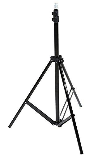 AmazonBasics - Soporte para iluminación, de aluminio, 2,13 m, ligero, con funda - Pack de 1