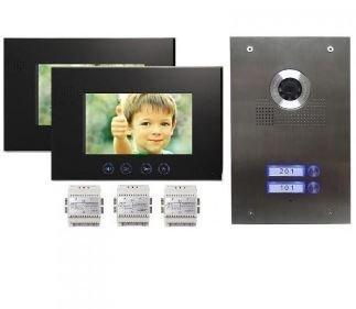 Rongtel® 2-Familienhaus Video Türsprechanlage Gegensprechanlage mit 7 '' Monitor