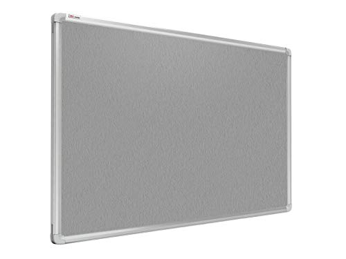 ALLboards Pinnwand Filztafel 90x60cm mit Alurahmen, Textiltafel Grau