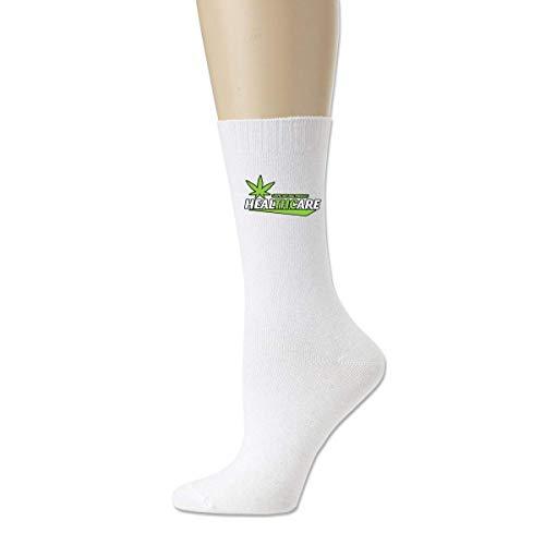 BEDKKJY THC Healthcare Cannabis Medical Marihuana Herrensocken aus bequemer Baumwolle Funny Crew Socks Dress Socks