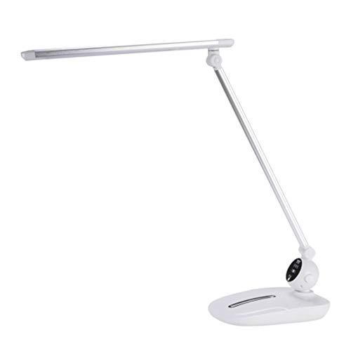 Lámpara Escritorio LED Lámpara de escritorio de 10W, lámpara de escritorio LED de control táctil, lámpara de escritorio de estudiantes, lámpara de lectura enchufable para hogar y oficina, luz blanca c