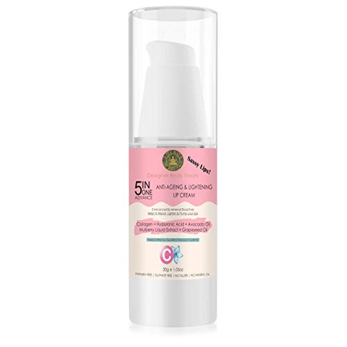SolaceDeArtisan 5in1 Advance Anti Ageing & Lightening Lip Cream, 30g, 100% Natural & Chemical free