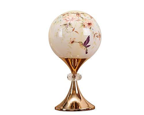 Tischlampe, Tischleuchte, Lampe im Tiffany-Stil Glastischlampe Tischleuchte Schlafzimmerbeleuchtung Beistellampe Buntglas Glas gefertigt kreative Luxus Villa Schlafzimmer Nachttischlampe