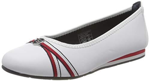 TOM TAILOR Damen 8090502 Geschlossene Ballerinas, Weiß (White 00002), 38 EU