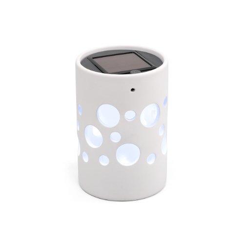 Konstsmide Genova 7800-200 Solarlamp LED B: 9,5 cm D: 9,5 cm H: 14 cm/keramiek/wit