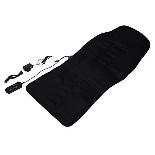 Asiento con calefacción de masaje, control inteligente incorporado 5 motores vibratorios Silla de masaje con cuello trasero negro, material de alta(European regulations)